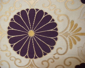 Fukuro obi S113, Fukuro, woven obi, Japanese obi, kimono, japanese, silk, haori japanese, silk kimono, japanese kimono