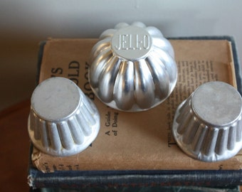 Three Vintage Aluminum Jello Molds
