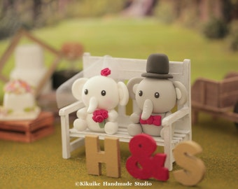 elephant Wedding Cake Topper