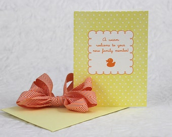A Warm Welcome To Your New Family Member! - Letterpress Greeting Card