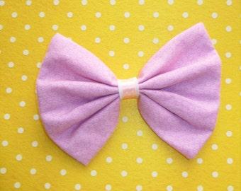 SALE Fairy Kei Large Lilac Hair Bow Clip