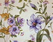Lavender Green Floral Fabric Uncut Yardage Upholstery, Drapery, Pillows, Handbags Other Fabric Crafts 54 Inches Wide