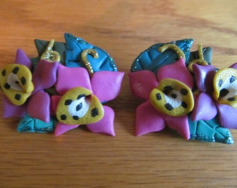 flower clay clips
