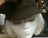 Black cotton mechanics hat