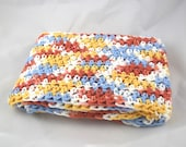 Light and Lacy Calico Country multicolor snuggly 100 percent cotton crochet scarf