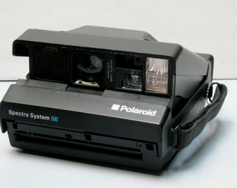 Vintage Working Black Polaroid Spectra System SE Instant Film Camera for Impossible Project Spectra Film
