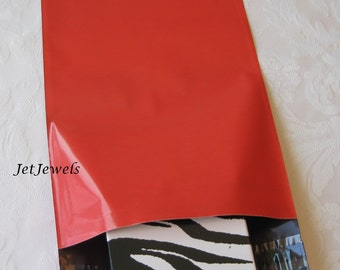50 Shipping Envelopes, Mailing Envelopes, Red Mailers, Plastic Mailer, Poly Bags, Mail Bag, Shipping Supplies, Self Sealing 6x9
