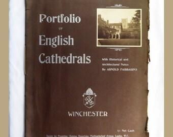 Winchester Portfolio of English Cathedrals Fairbairns Photographs