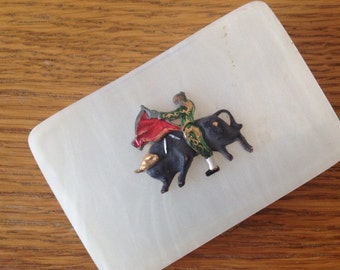 FOUND IN SPAIN -- Little torero box - perfect size for playing cards