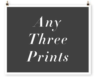 Save Any three prints, Custom Paris Photography Collection