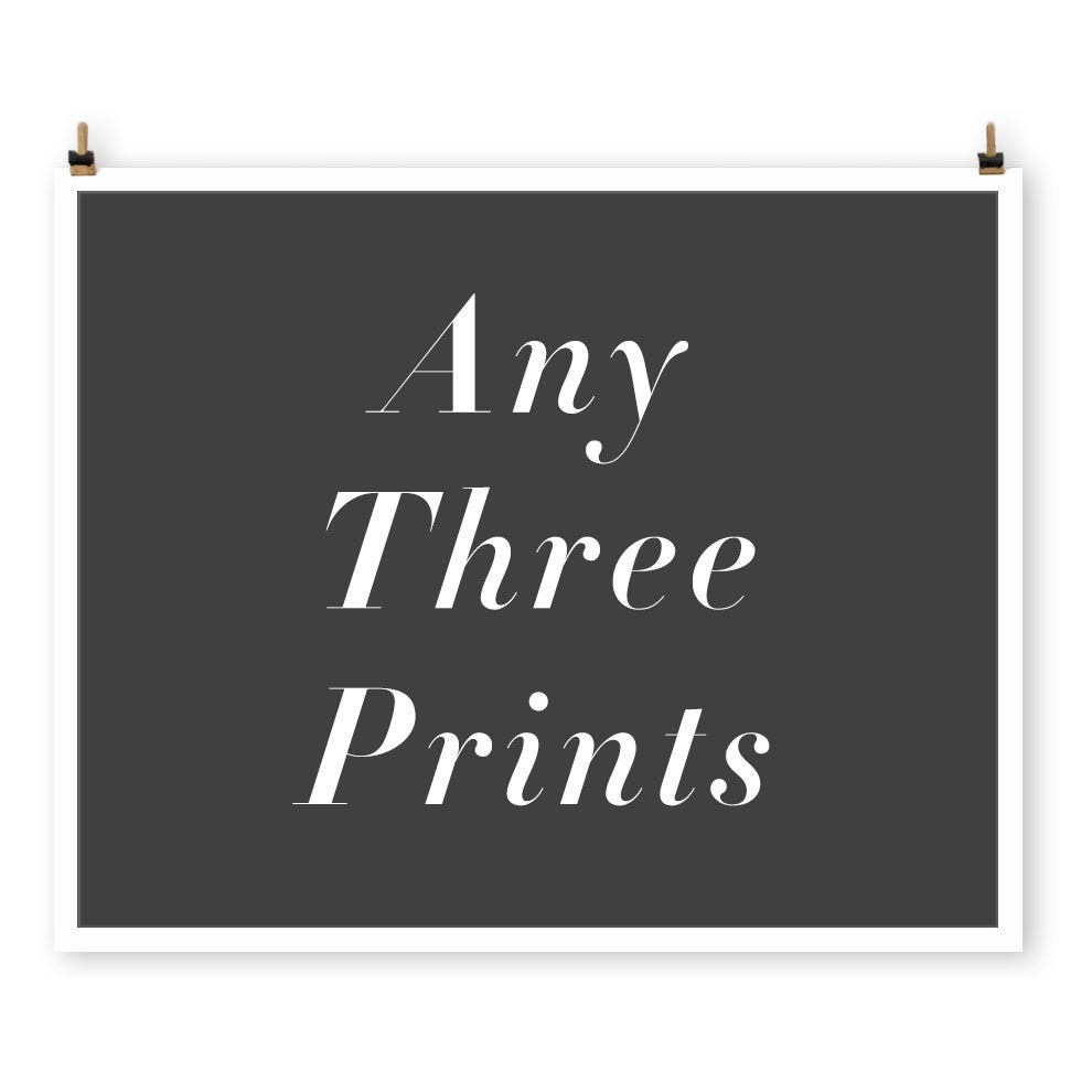 Save on any three prints, Custom Paris Photography Collection