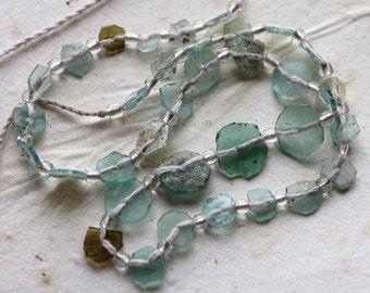 sale .. ANCIENT ROMAN GLASS No. 107 .. Genuine Antique Roman Glass Fragment Beads (rg-107)