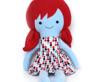 Rainbow rag doll / diversity doll / learning doll / educational doll / keepsake doll / equality doll / cloth doll / rainbow doll / blue doll