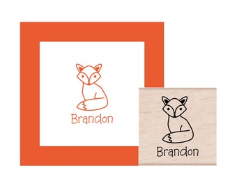 Fox Personalized Rubber Stamp