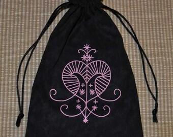 Erzulie voodoo tarot drawstring bag