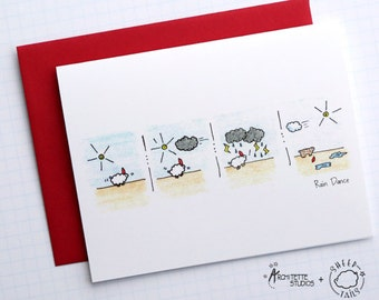 Rain Dance - Sheeptails - Folded Cards (6)