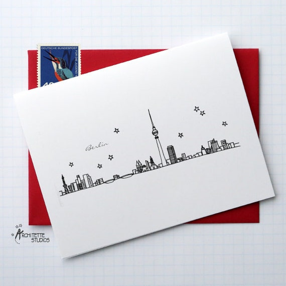 Berlin, Germany - Europe - City Skyline Series - Folded Cards (6)