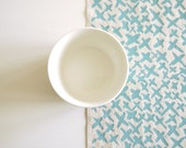 Kisses - screen printed fabric - chalky colours