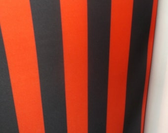 """3.25"""" Red Black Thick Stripe Poly Stretch Fabric BTY"""
