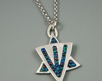Opal Mosaic Star Necklace