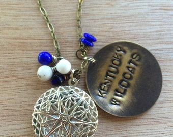 C155 Kentucky Wildcats Game Day Locket Necklace