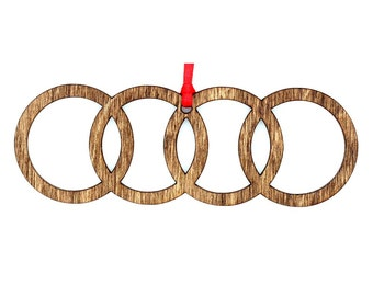 Wooden Audi Ornament