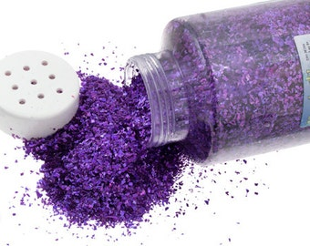 One Package With Sifter Top (450 Grams) Glitter Flakes - Purple (506)