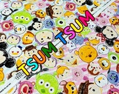 1 meter Disney Character  Disney tsum tsum fabric Print 100 cm by 106 cm or 39 by 42 inches