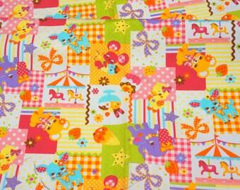 Half Yard Kawaii Circus Animals and Sweets Print
