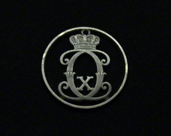 DENMARK - cut coin jewelry - 1928 - w/ CCX