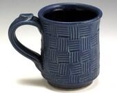 Handmade Pottery Stoneware Mug with Blue Glaze