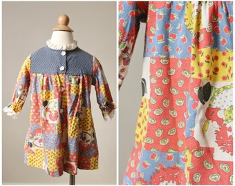 1960s Raggedy Ann Dress >>> Size 24 Months