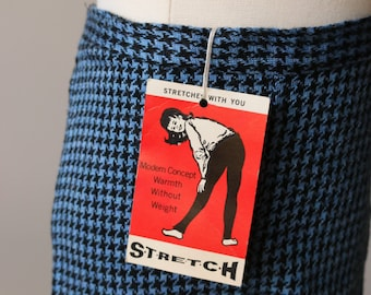 RESERVED~1960s Deadstock Houndstooth Stretch Pants~Size 12 Months