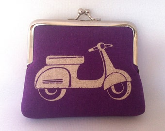 Vespa Scooter Coin Purse