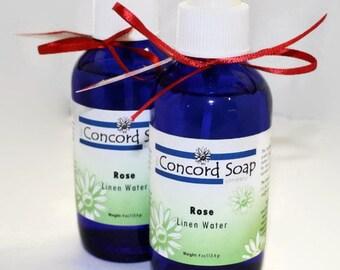 Rose Handmade Room and Linen Water Spray - scented, body spray, potpourri, floral, feminine, fragrance, cobalt blue glass