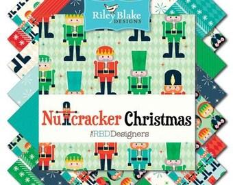 "FABRIC 5"" Stacker Charm Pack NUTCRACKER CHRISTMAS  by Riley Blake"