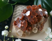 Aragonite Cluster - Aragonite Star Cluster - Red and White Aragonite Crystal Geode - Medium Aragonite Crystal Cluster - Moroccan Aragonite