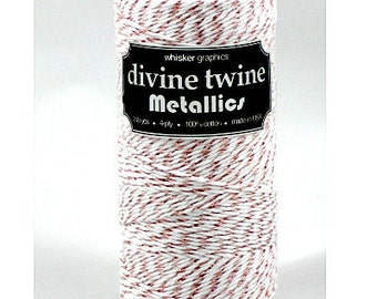 Rose Gold Metallic Baker's Twine, Divine, 240 Yards, 720 Feet