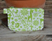 Coin Purse Dog Poopie Pouch - Green Forest Animals
