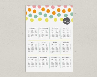 Clearance | 2017 Magnetic Calendar Bright Dots | SALE