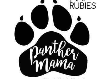 Panther Paw Mama School Pride Mascot SVG, PNG, JPG digital cut file
