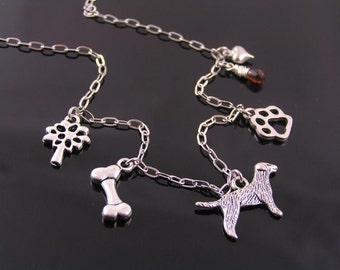 Dog Necklace, Charm Necklace, Dog Lover Necklace, Dog Lover Jewelry, Love my Dog, Pet Necklace, Pet Jewelry, Hound Necklace, N1526