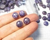 OUT Of Town SALE Natural Russian Charoite Cabochon 10mm, Buy More And Save
