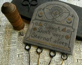Primitive Cross Stitch Pattern - Eternal Sleep Threadkeep