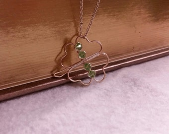 Silver Wire Four Leaf Clover Pendant