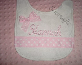 Hannah Personalized Bib - with Name or up to 3 initials