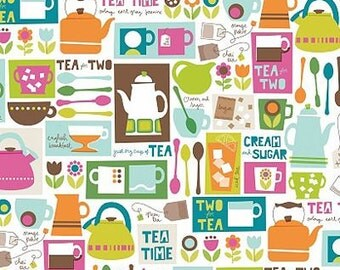 Ampersand Cream and Sugar Tea Time Fabric