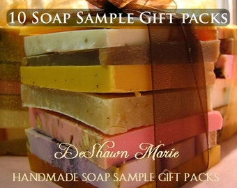SOAP Christmas gifts - 10 Soap Sample Gift Sets - Assorted Soap - Soap Gift - - Soap Ends - Vegan Soap