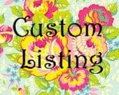 Custom Listing for chuckkaa