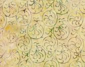 Light Yellow Aloha Batik 100% Cotton Quilting Fabric